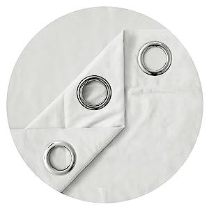 white grommet curtains