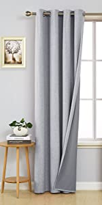 darking curtains with a pattern