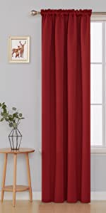 curtains black for christmas gift present grommet curtains thermal warm curtains