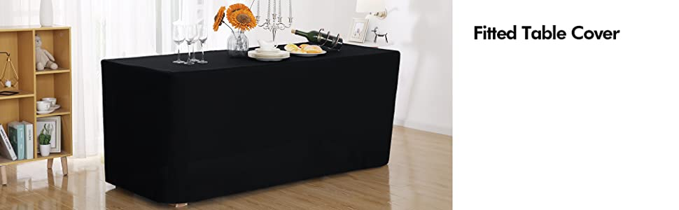 Fitted Rectangular Polyester Table Cover