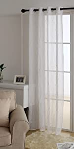sheer  curtains white voile sheers for bedroom living room