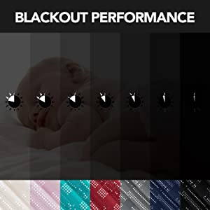 foil print blackout curtains for bedroom living room kidsroom sliding glass door nursery
