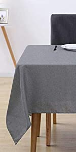 Deconovo Cotton Tablecloth Waterproof Stain Resistant Rectangle Tablecloths for Wedding Decoration