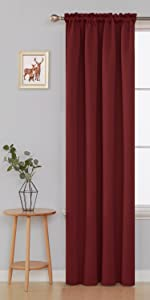 red curtains for christmas