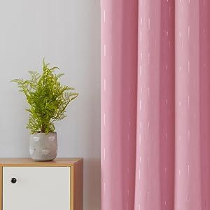 foil print blackout curtains
