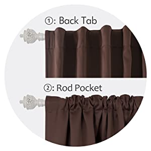 back tab and rod pocket curtains
