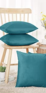 teal cushion covers