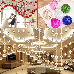 hanging crystal prism ball clear color