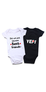 Funny Twins infant bodysuit