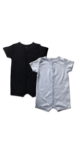 2 pack solid baby romper