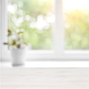 bathroom window and flowe pot image