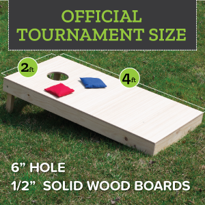 Play Platoon Cornhole Board Game Set - 2 Boards - Fully Assembled - Tournament Size