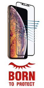 iPhone xs max anti glare screen protector