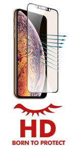 iPhone xs max Hd Clear Anti blue light screen protector