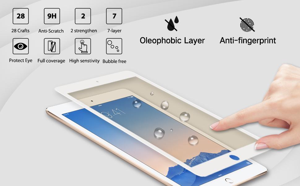ipad Pro 9.7 air anti glare blue light filter screen protector
