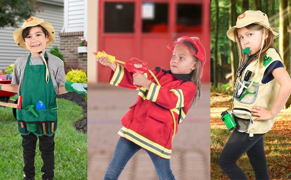 Children Dress Up Halloween Costume Police Imaginative Play toddler toy Community Worker