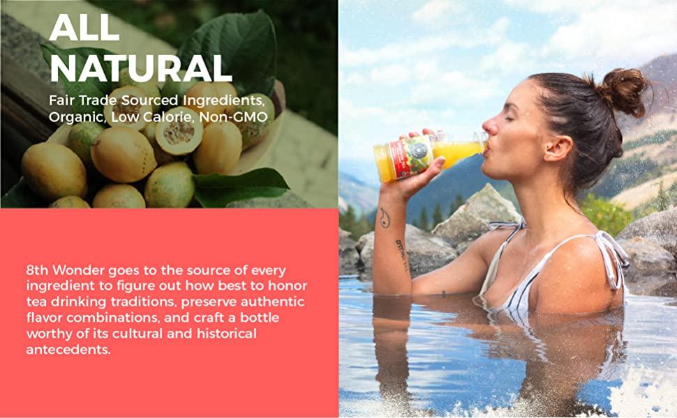 All Natural Tea, Organic Tea, Low calorie Tea