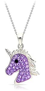 BLING BIJOUX Jewelry Mythical Purple Crystal Unicorn Pendant