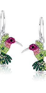 BLING BIJOUX Jewelry Colorful Flying Hummingbird