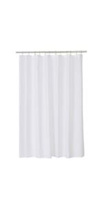white shower liner