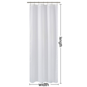 sizes of curtain stall