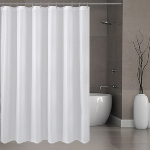 Fabric shower curtain or liner