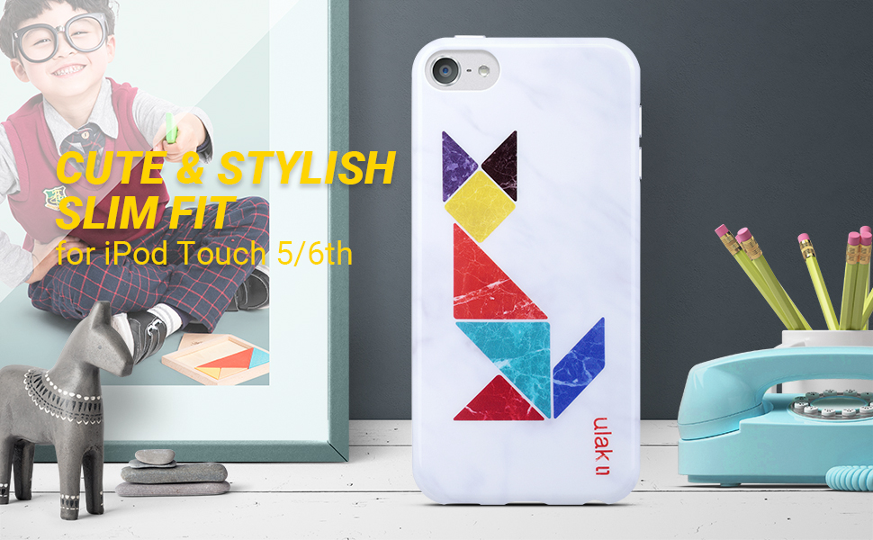 iPod touch case marble fox