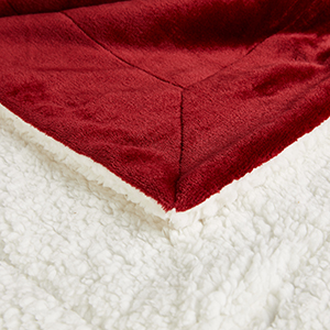 red throw blanket