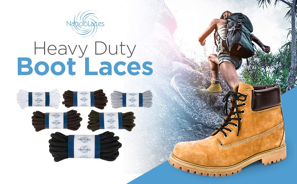 Boot laces heavy duty