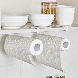 Paper towel holder under cabinet without drilling