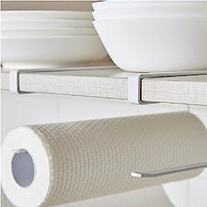 Paper Towel Holder Dispenser Under Cabinet Paper Roll Holder Rack