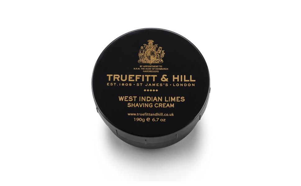 Truefitt & Hill Shave Cream Bowl, 6.7 oz, West Indian Lime