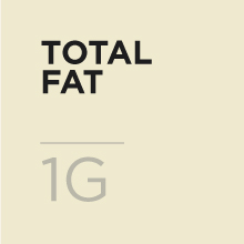 I gram of fat per serving