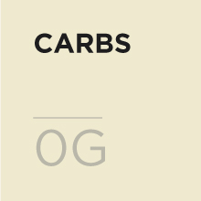 0 grams of carbs per serving