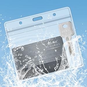 badge holder name badge holder plastic badge holder horizontal card holder 3x4 name tag badge holder
