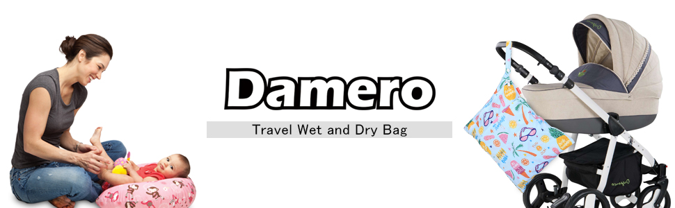 Ideal for Travel Medium,Bear Wet Clothes and More Exercise Pumping Parts Reusable and Water-Resistant Daycare Damero Cloth Diaper Wet Dry Bag with Handle for Swimsuit Swimming