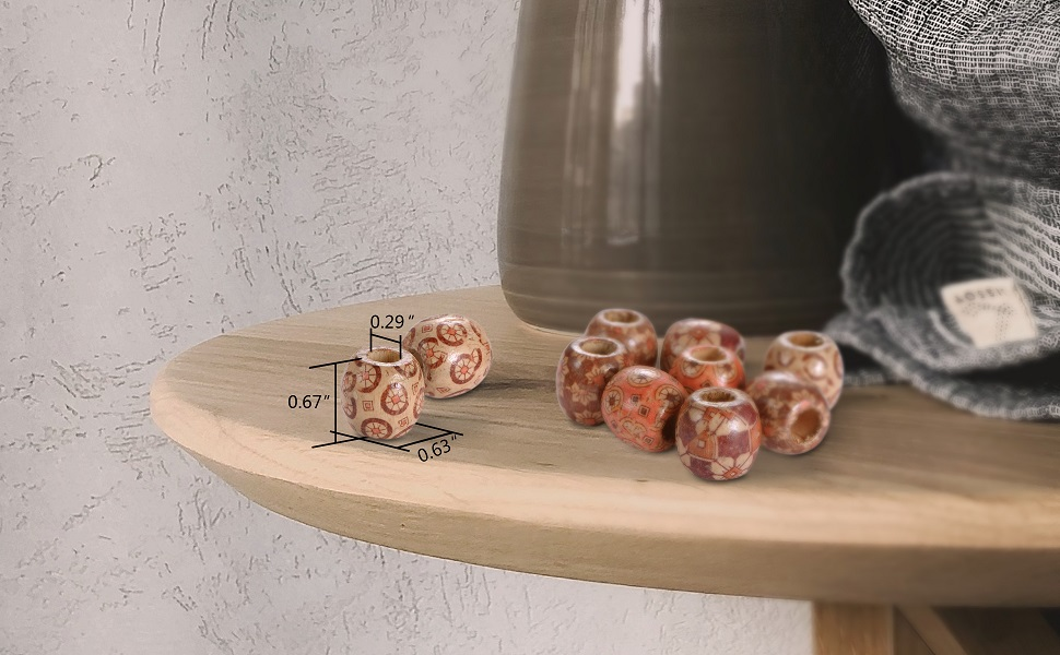 wood spacer beads
