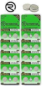 LR1130 AG10 Batteries 20-Pack