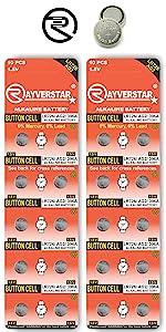 LR726 AG2 Batteries 20-Pack