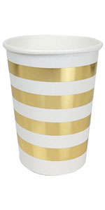 striped gold plate