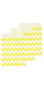 yellow chevron treat bags