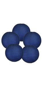navy blue paper lantern