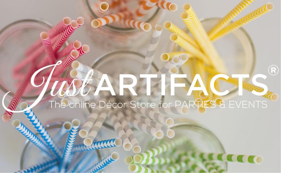Just Artifacts Metallic paper straws