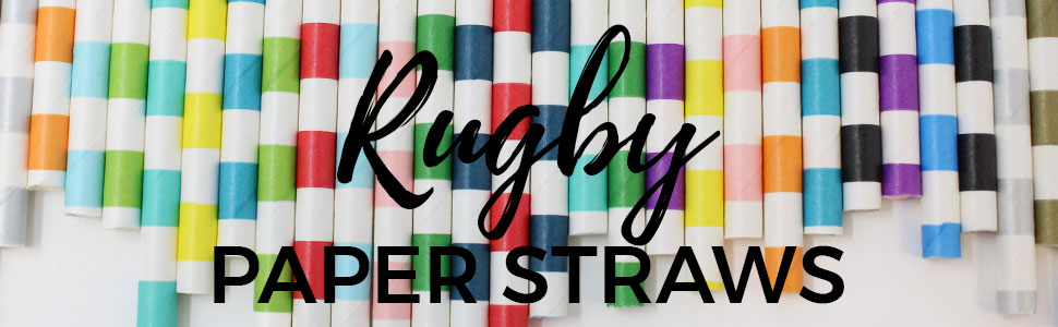 rugby paper straws
