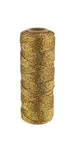 metallic gold twine