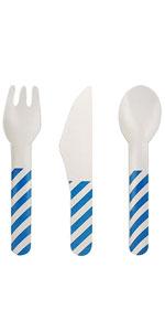 blue cutlery