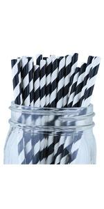 black stripe straw