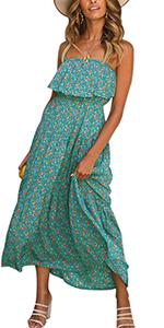 Women Summer Casual Sleeveless Rompers Spaghetti Strap Waist Drawstring Solid Short Jumpsuits Pocket