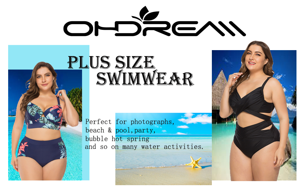 BIKINX V Neck Tankini Swimsuits for Women Criss Cross Back Two Piece Swimwear Plus Size Tummy Control Bathing Suits