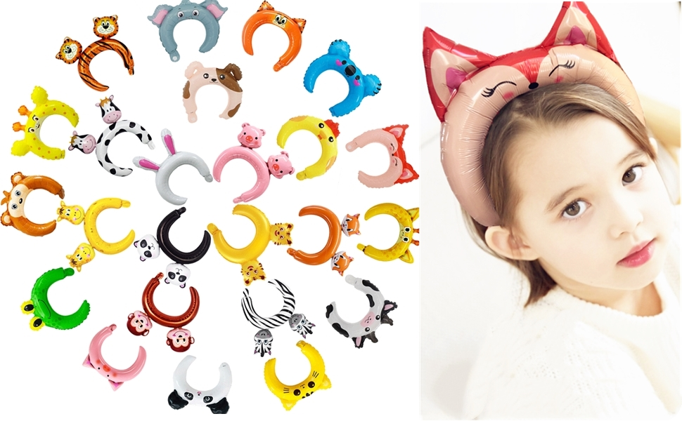 24 pack inflatable headbands